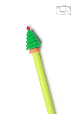 FESTIVE BALLPOINT PEN CHRISTMAS TREE